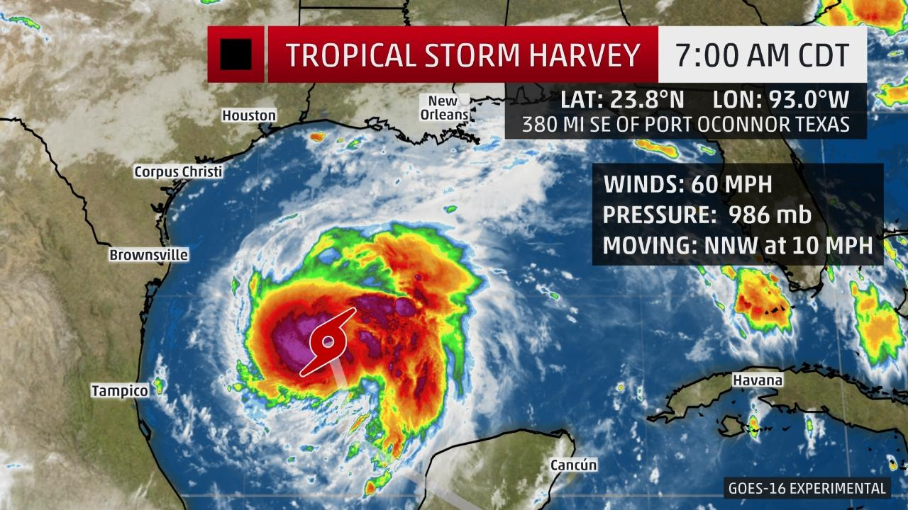 Tropical storm Harvey forecast.