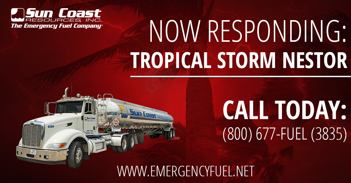 Tropical Storm Nestor emergency fuel and response services